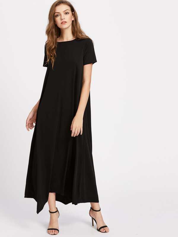 sc 1 st  SheIn.com & Hanky Hem Tent Dress With Hidden Pocket -SheIn(Sheinside)