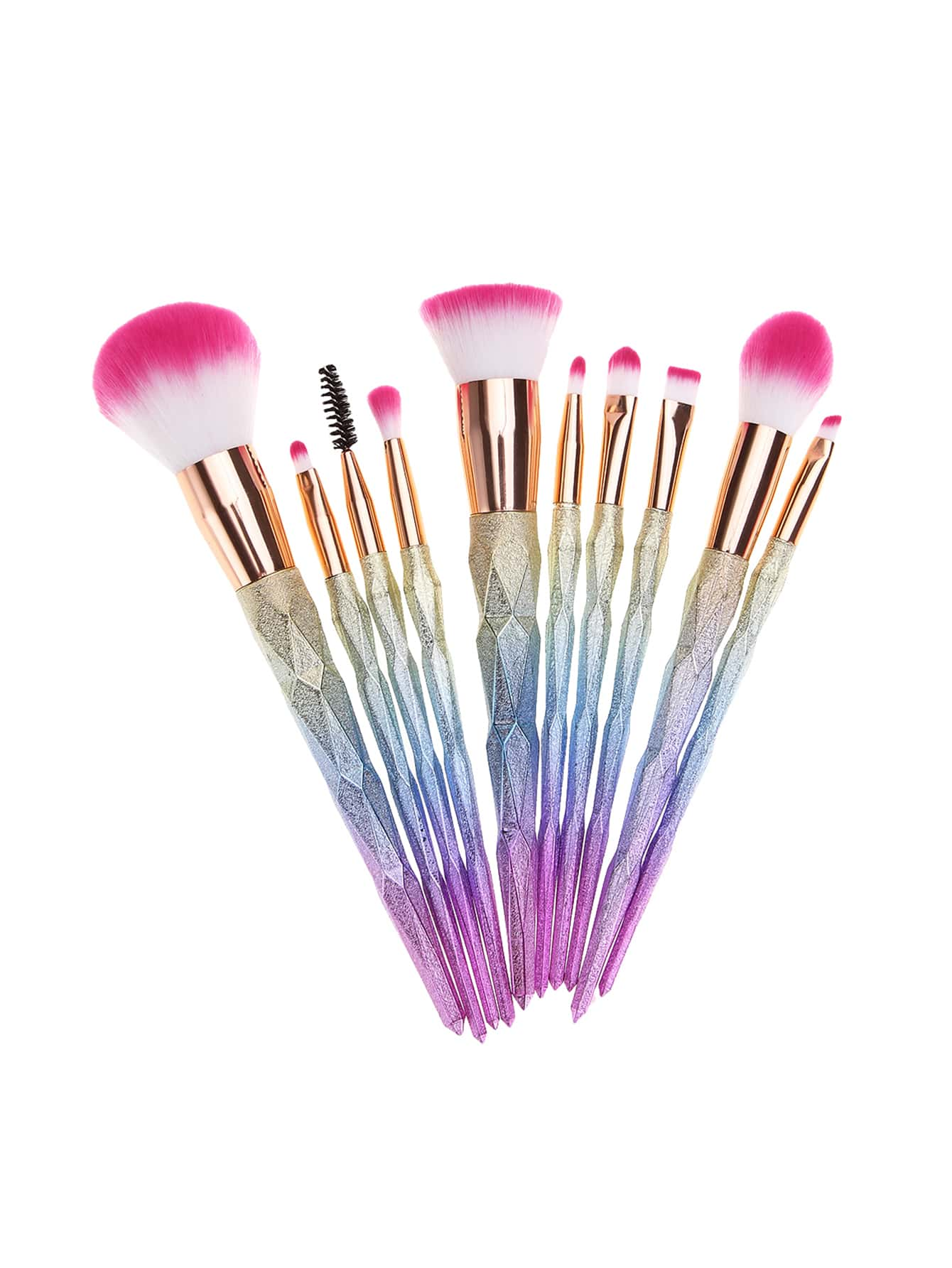 Image of Ombre Matte Makeup Brush 10pcs