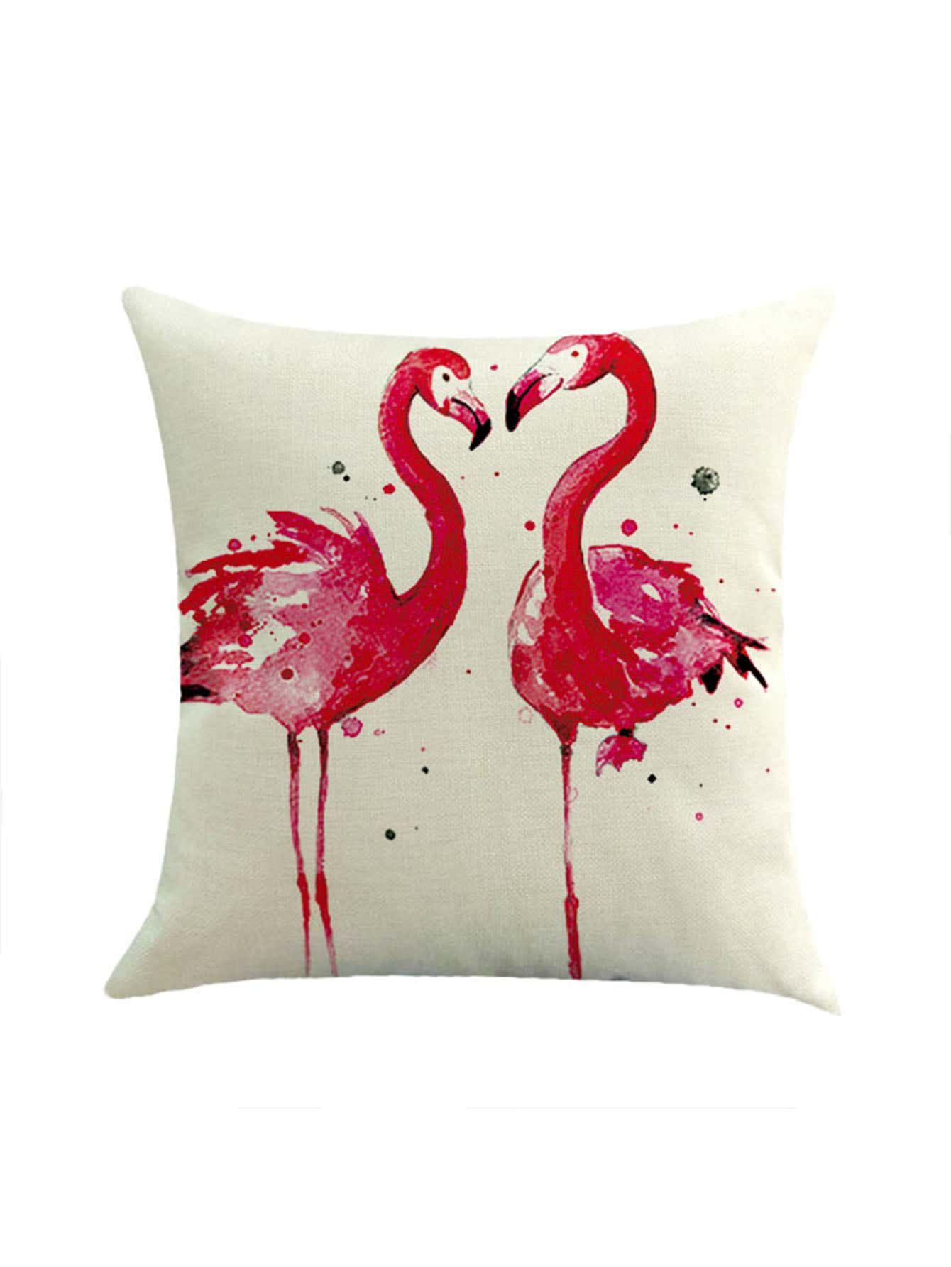 Фото Contrast Couple Flamingo Print Pillowcase Cover. Купить с доставкой