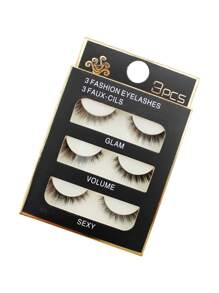 False Eyelashes Set 3 Pair