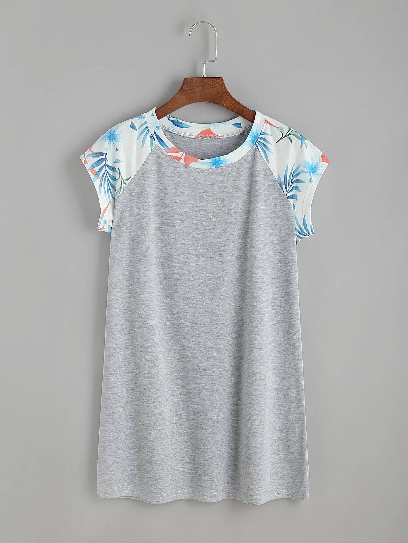 Фото Contrast Raglan Sleeve T-shirt. Купить с доставкой