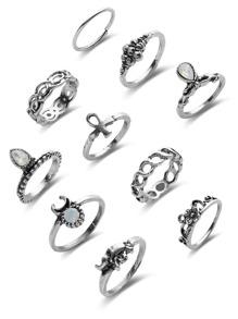 Pack de anillo con piedra preciosa