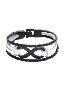 Deux Bracelet tissé en couches