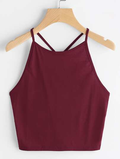 Y Strap Back Cami Top
