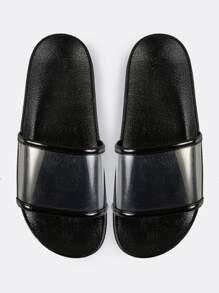 Sandalias en puntera abierta - Negro