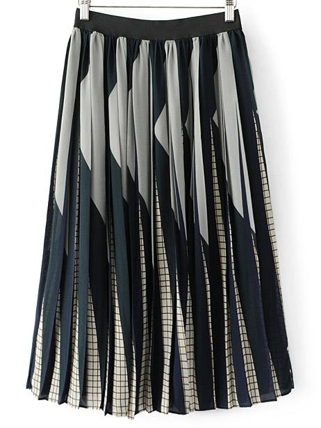 Фото Elastic Waist Pleated Skirt. Купить с доставкой