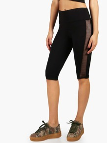 Fish Net Capri Leggings