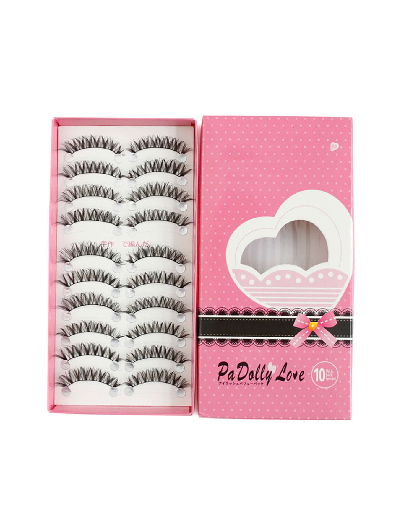 Фото Natural Shaped False Eyelashes Set 10 Pair. Купить с доставкой
