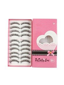 Natural Shaped False Eyelashes Set 10 Pair