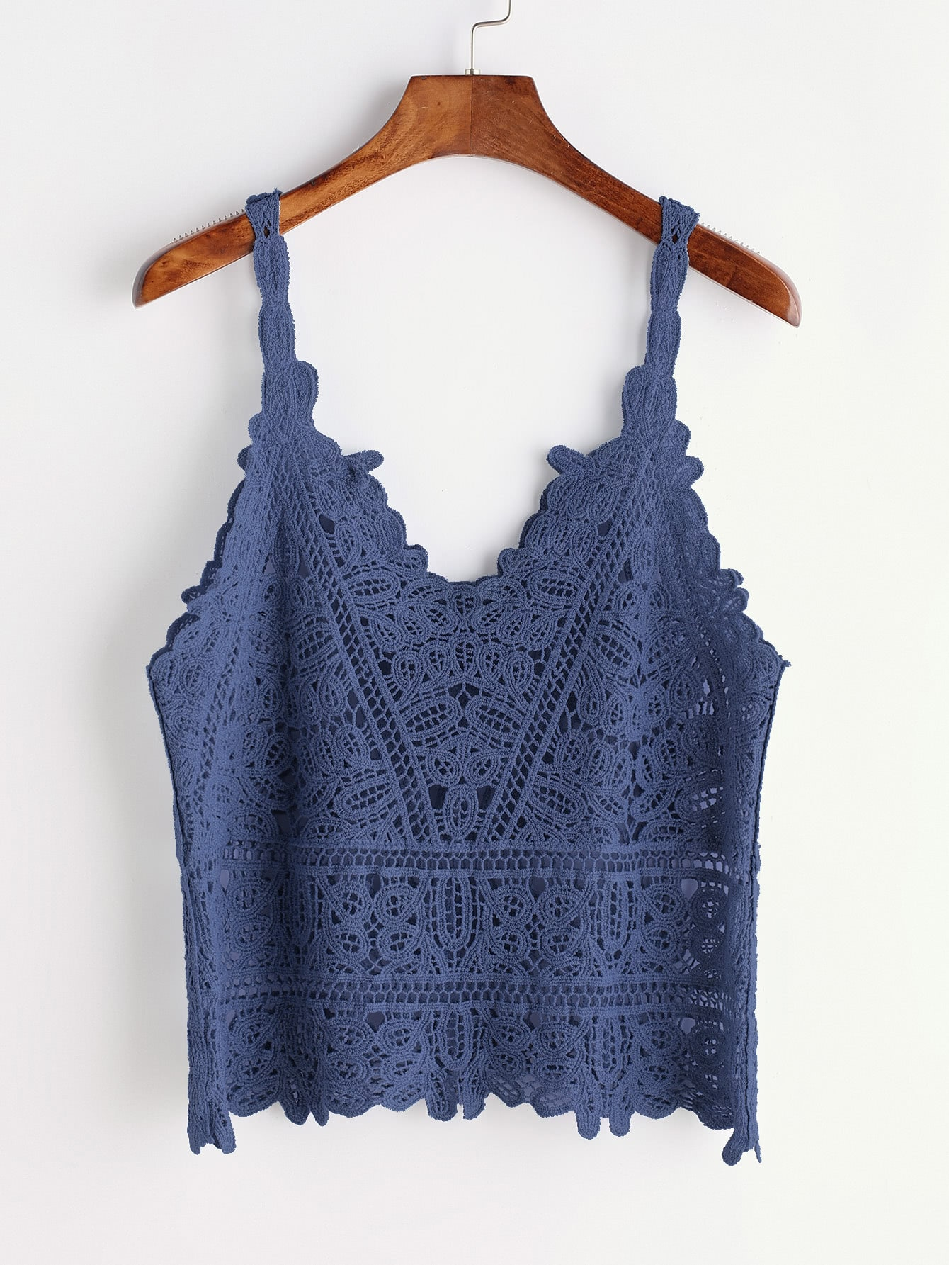 Crochet Lace Hollow Out Cami Top crochet lace hollow out cami top