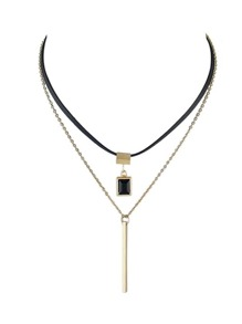 Multilayers Long Thin Gold Chain Necklaces