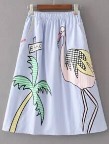 Pinzas elásticas de cintura con falda de línea