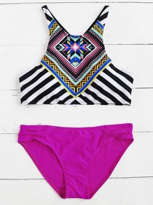 Sets de tankini con estampado mixto