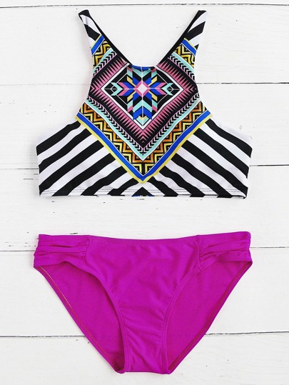 Tribal Print Mix & Match Tankini Set