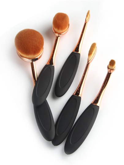 Oval Toothbrush Shaped Makeup Brush Set