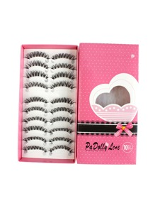 Curly False Eyelashes Set 10 Pair