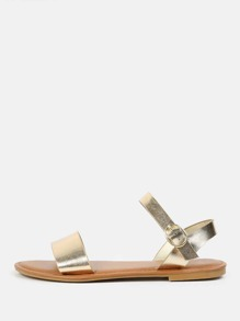 Sandales métallique à bout ouvert