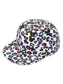 Cappellino con stampa grafica e ricamo