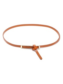 Criss Cross Knot Faux Leather Belt