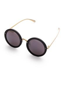 Gafas de sol con marco de metal y lentes redondas