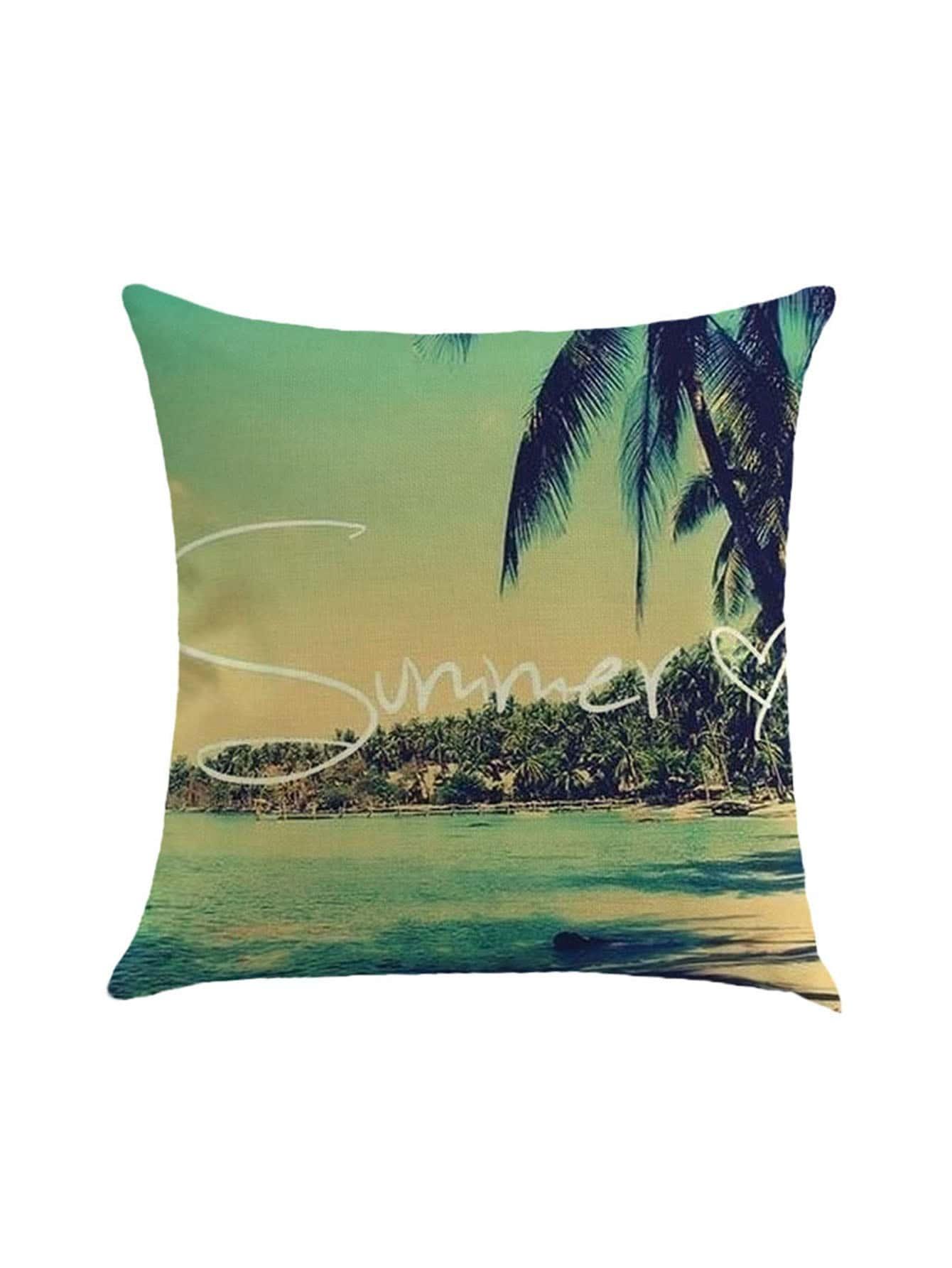 Фото Palm Tree Print Pillow Case Cover. Купить с доставкой