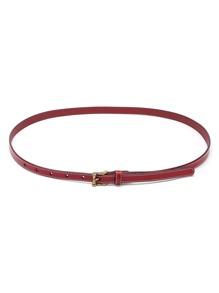 Cinturón delgado de cuero de imitación