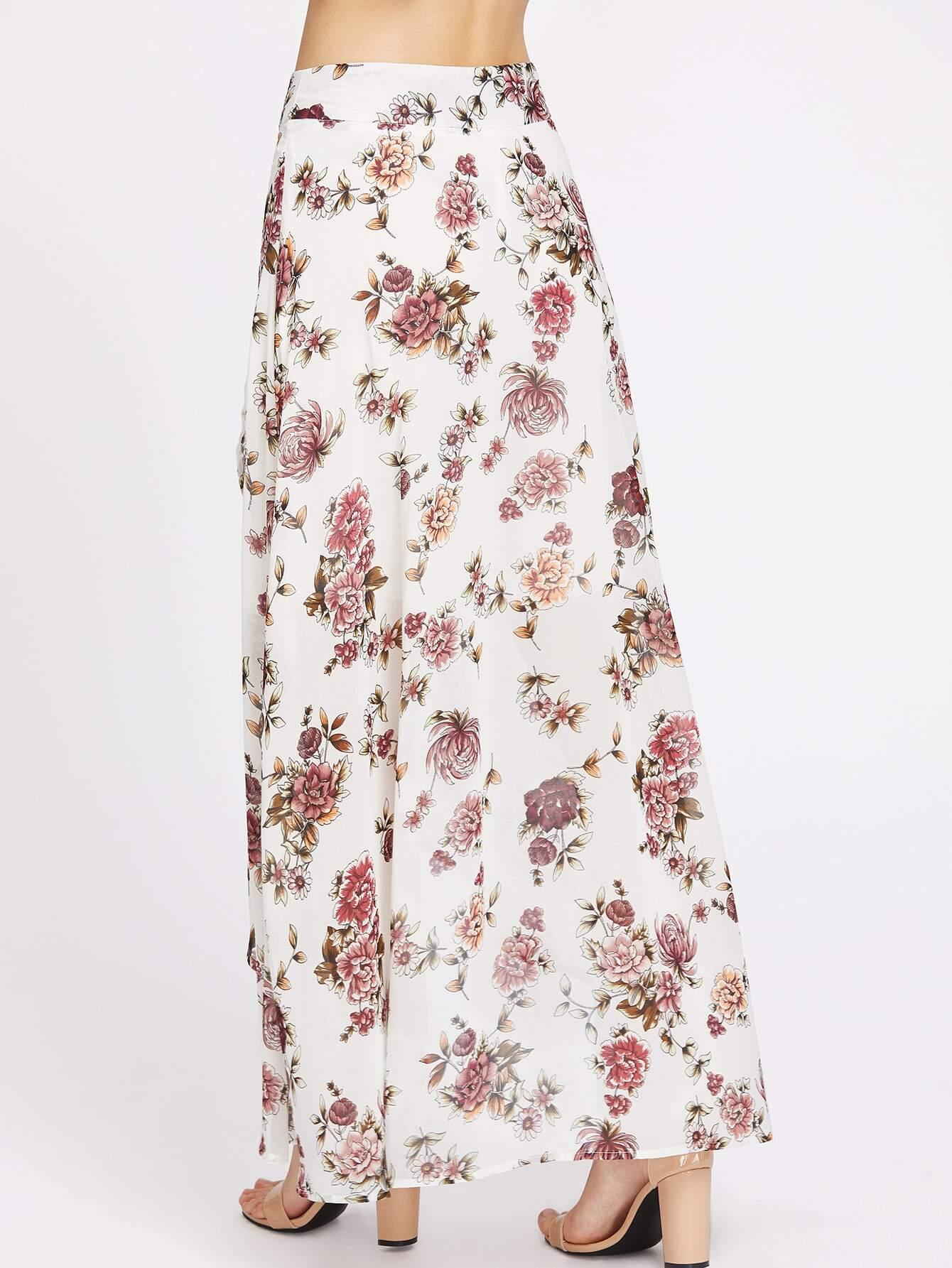 high low hemlines floral skirt shein sheinside