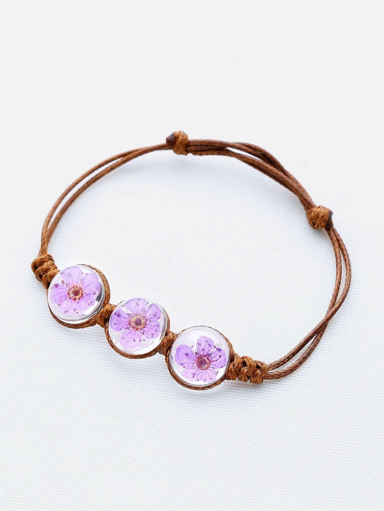 Фото Glass Flower Knot Bracelet. Купить с доставкой