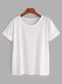 Rolled Sleeve Basic Tee