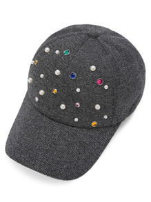Casquette de baseball de perles artificielles