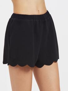 Shorts de volante de cintura elástica