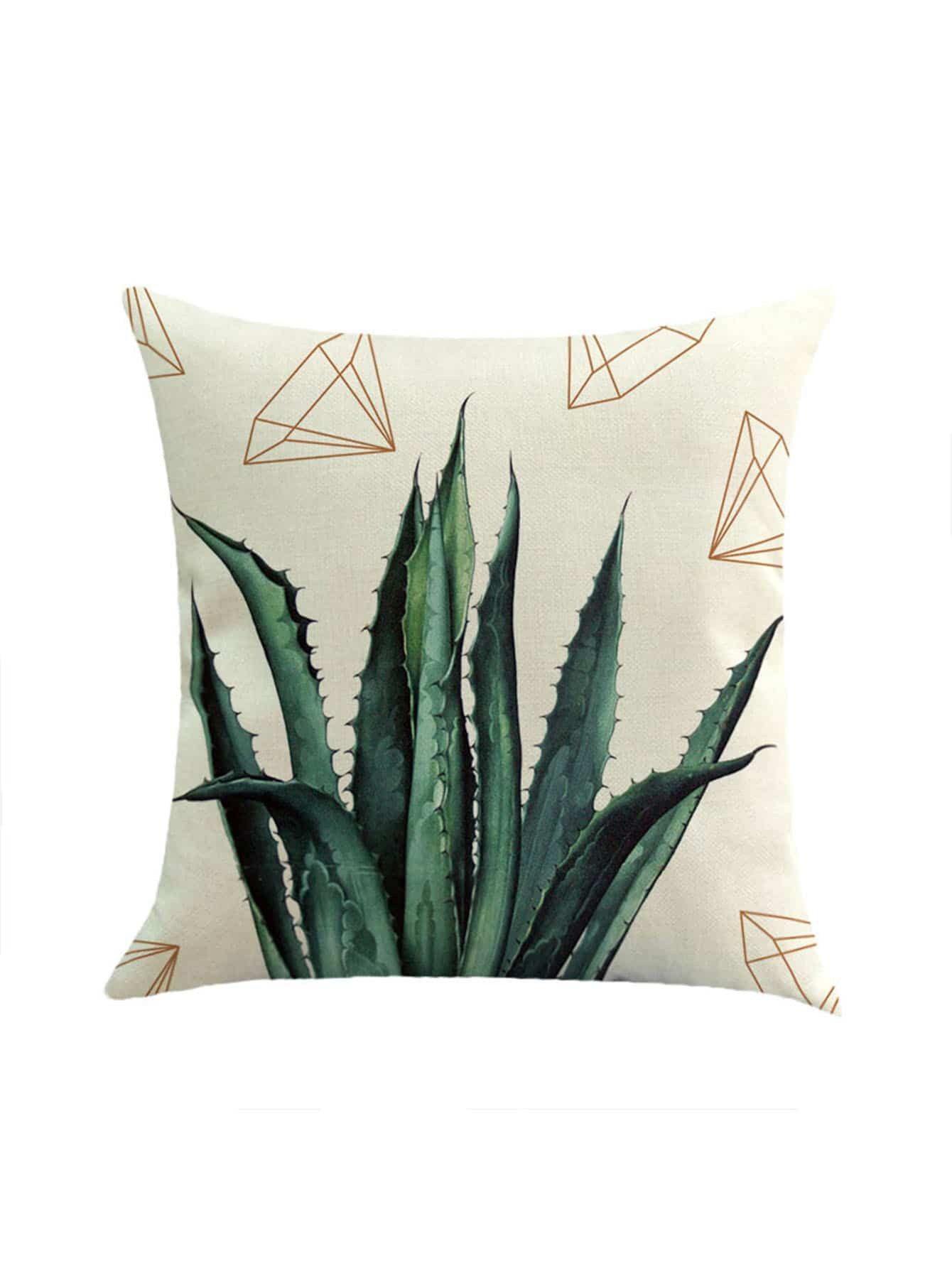 Фото Cactus And Diamond Print Pillowcase Cover. Купить с доставкой