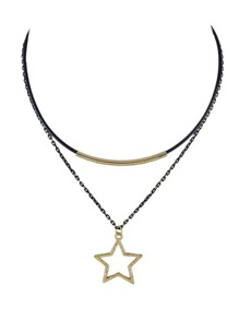 Multilayers Thin Chain Star Collar Necklaces