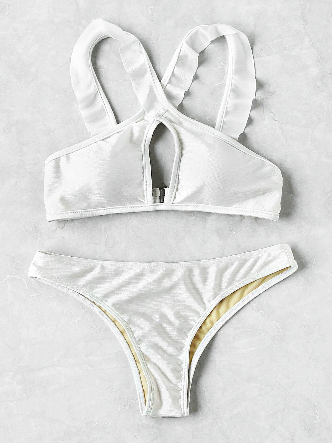 Фото Keyhole Cross Halter Bikini Set. Купить с доставкой