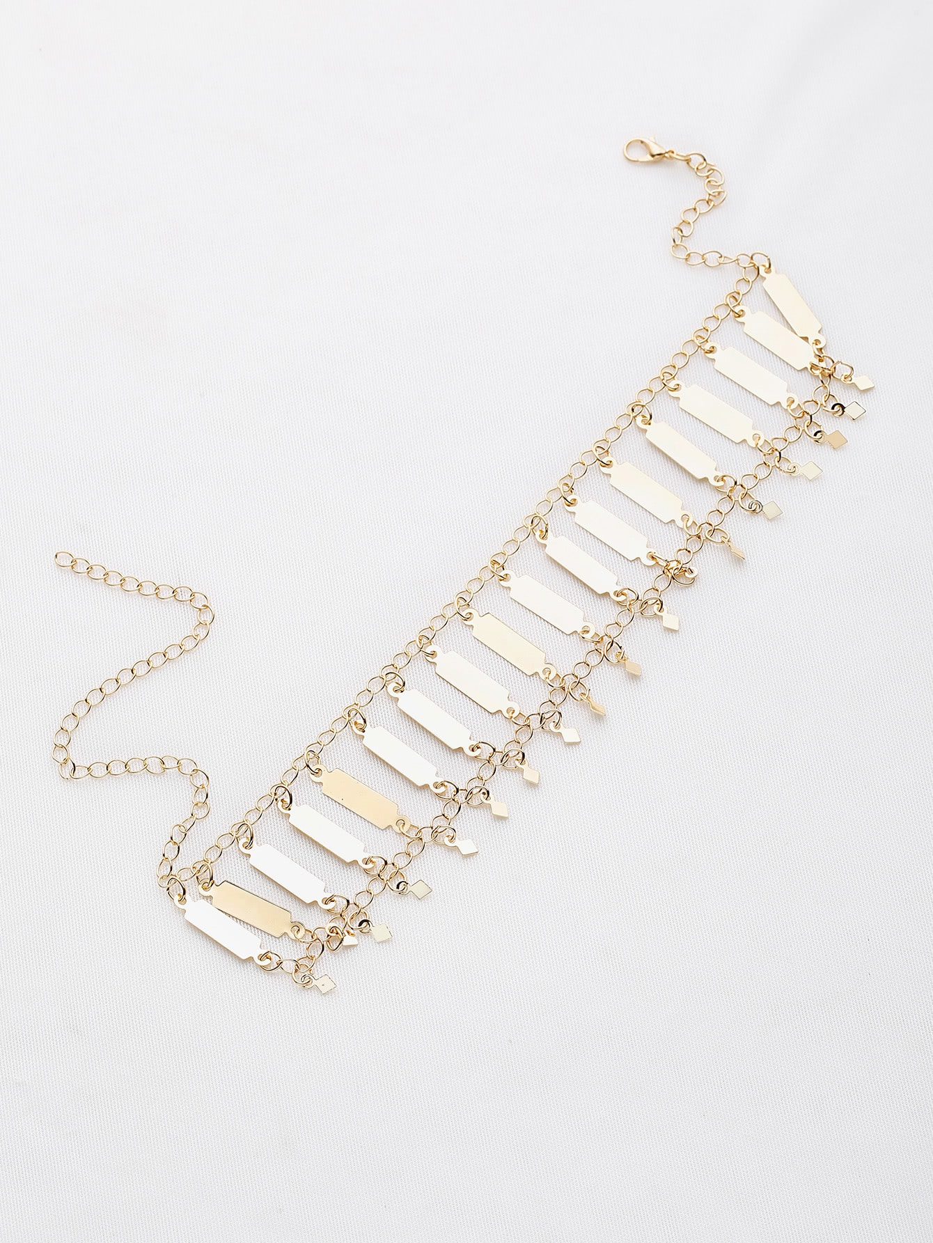 Фото Metal Geometric Design Choker Necklace. Купить с доставкой