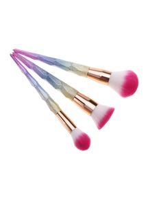 Ensemble de brosse de maquillage ombre 3pièces