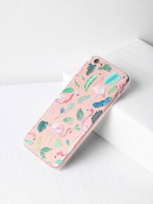 Flamingo And Plants Print iPhone 6/6s Case