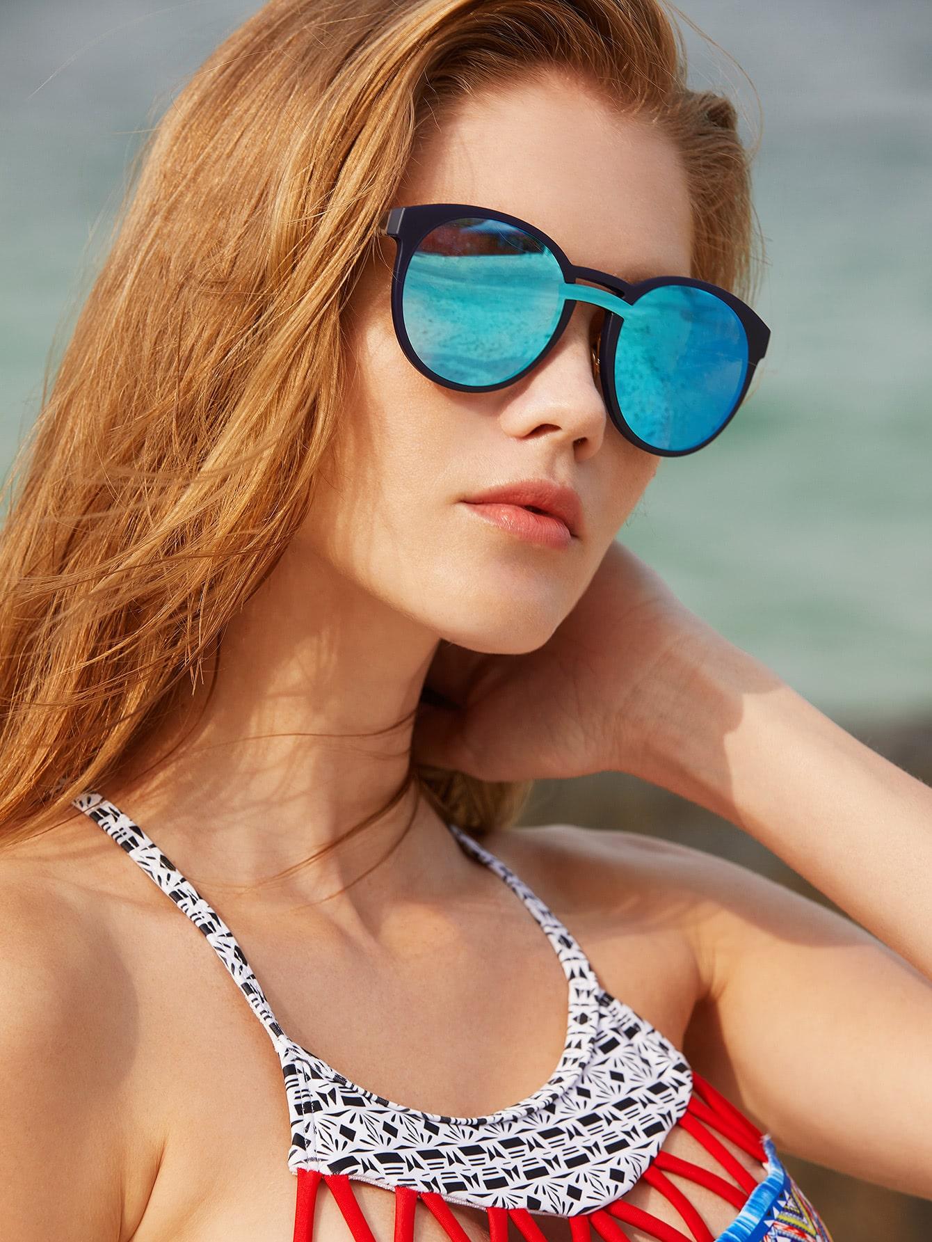 Фото Double Bridge Contrast Lens Sunglasses. Купить с доставкой
