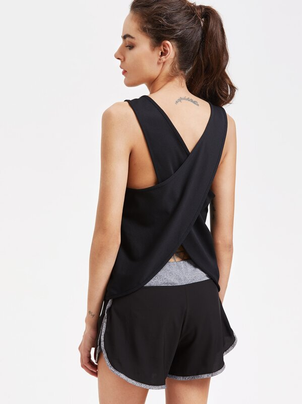 Wrap Back Sports Top, null