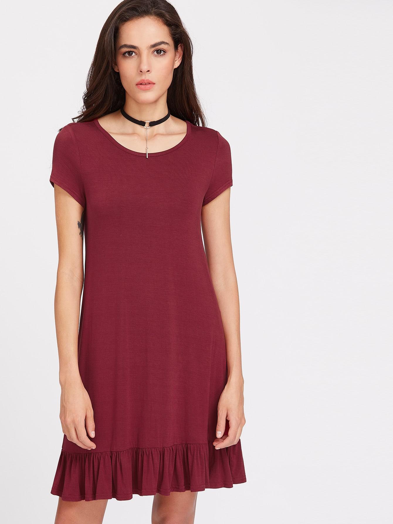 Ruffle Hem Tee Dress dress170411703