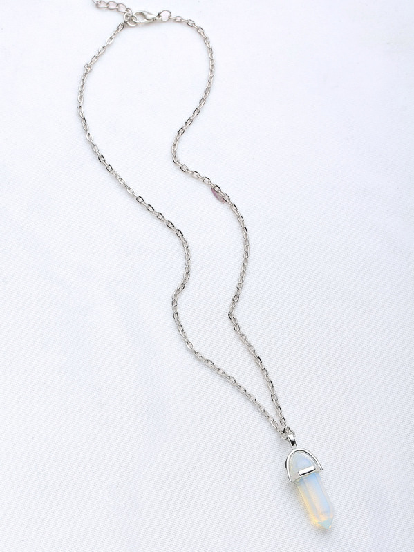 Contrast Crystal Pendant Necklace, null