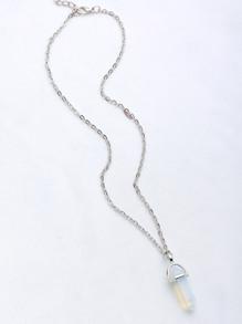 Collana con pendente di cristallo a contrasto
