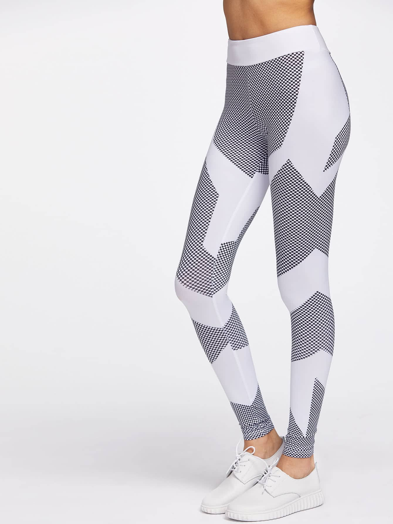 Color Block Honeycomb Pattern Gym Leggings leggings170406304