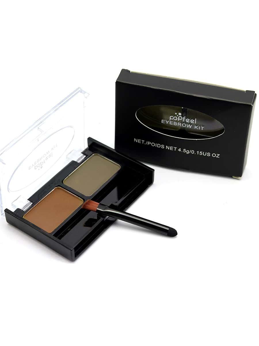 Фото 2 Color Eyebrow Powder With Brush. Купить с доставкой