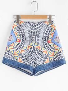 Pantaloncini con cerniera ,con stampa tribale