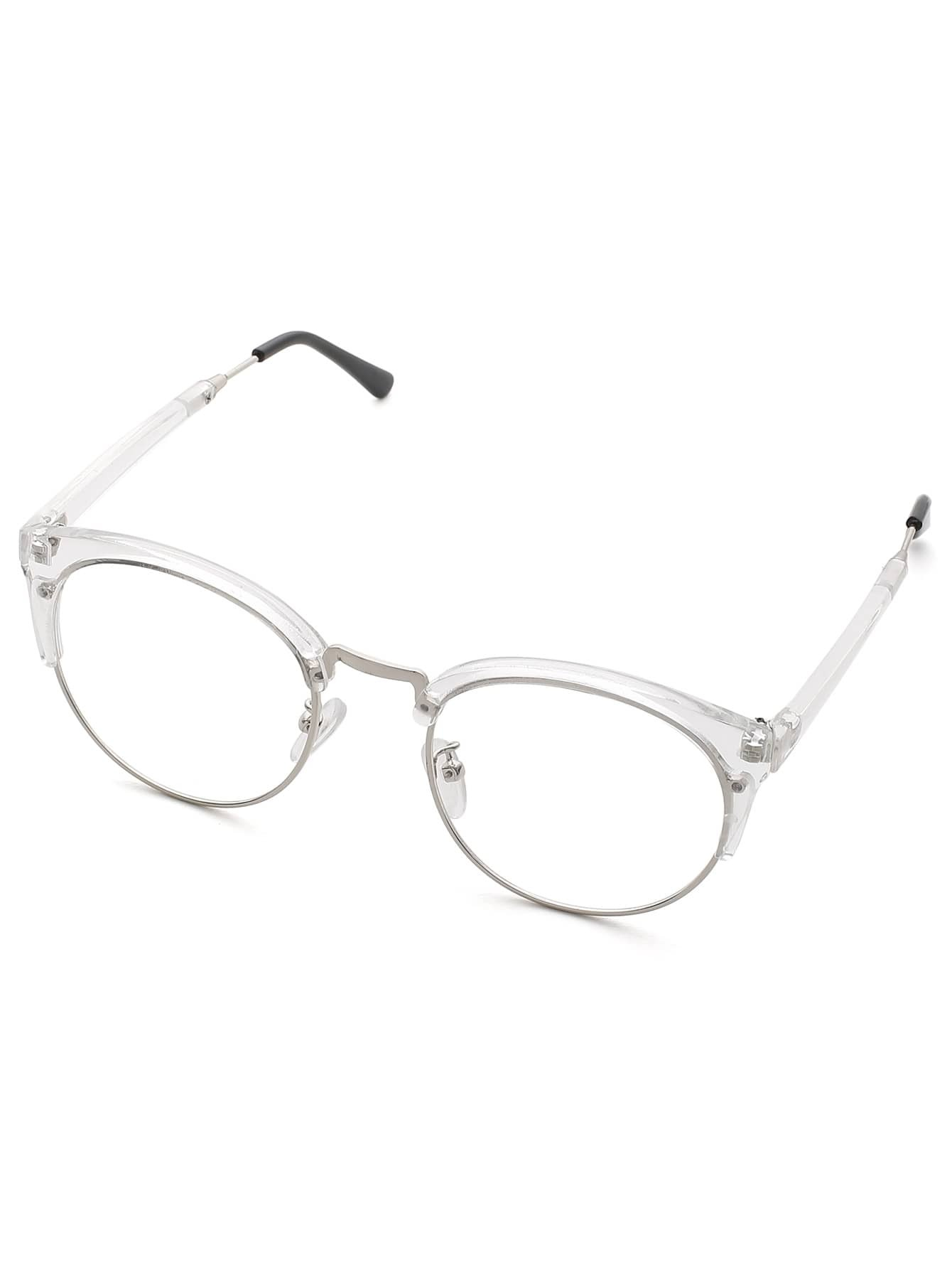 clear frame glasses with clear lens shein sheinside