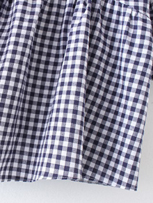 Flute Sleeve Gingham Print Babydoll Top pictures