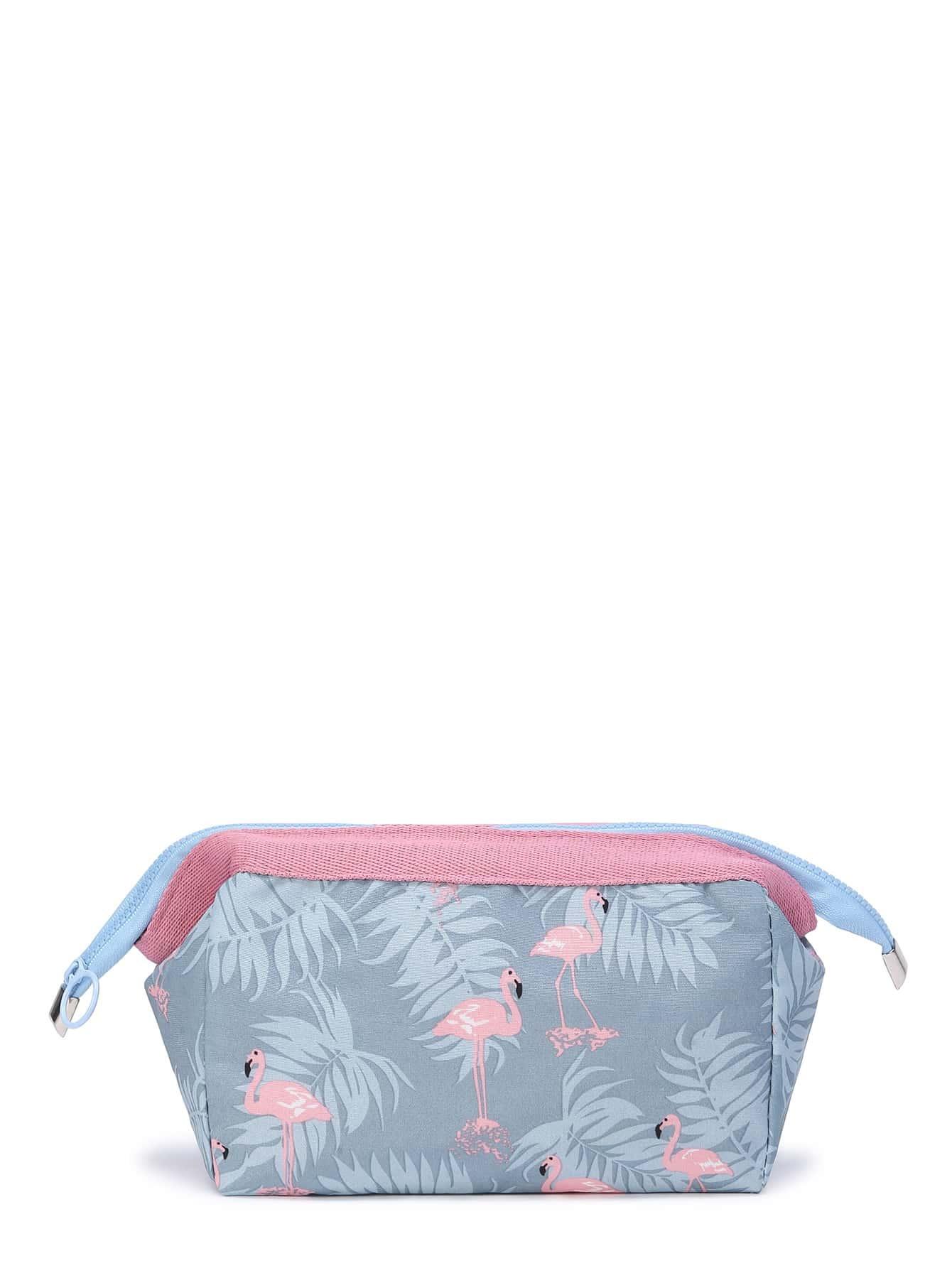 Фото Cranes Print Make Up Bag. Купить с доставкой