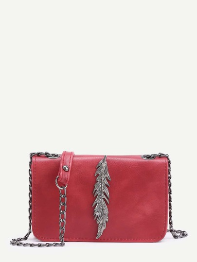 Metal Leaf Crossbody Tasche