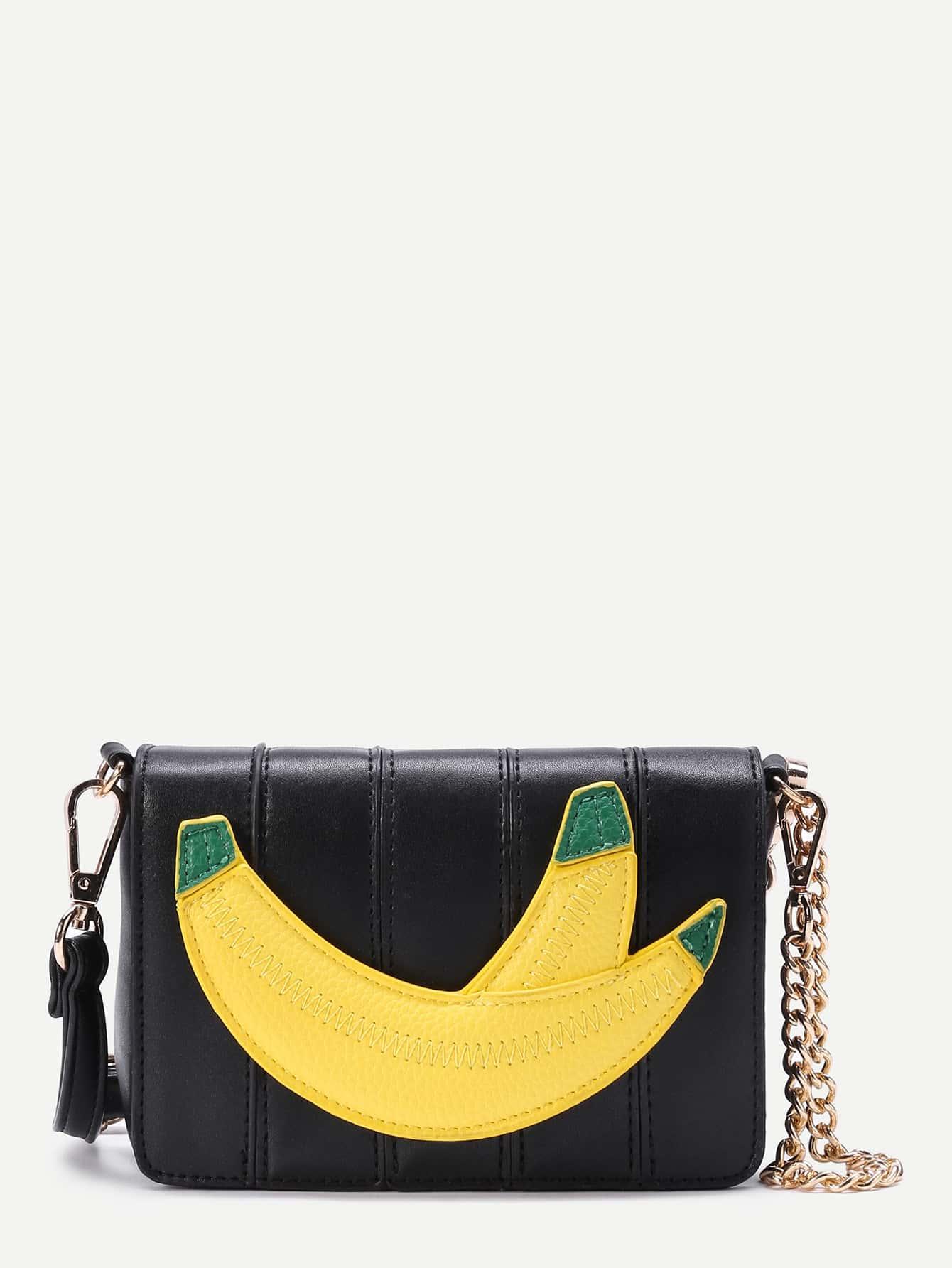 Фото Banana Patch Crossbody Bag With Chain. Купить с доставкой